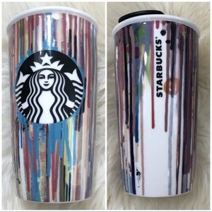 🎨 Starbucks Paint Drips 12oz Ceramic Tumbler